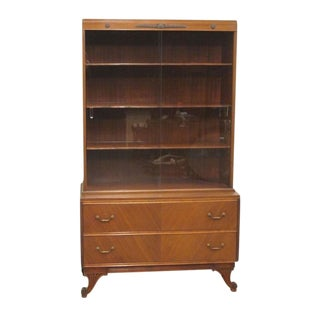 Late 20th Century Rway Furniture Mahogany China Cabinet For Sale
