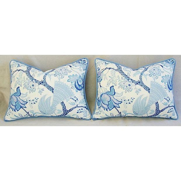 Designer Stroheim Jaidee Blue/White Pillows - Pair - Image 8 of 8