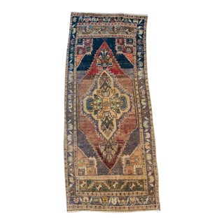 1960s Vintage Mini Oushak Rug- 1′7″ × 3′6″ 5 For Sale