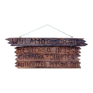 Boy Scout Camp Wulamoc Trail Sign For Sale