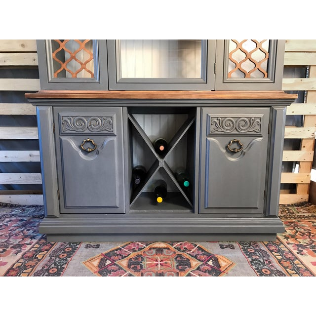 Gray Chalk Painted Wine Cabinet - Image 5 of 8