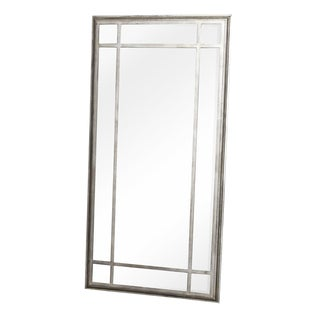 Large Metal Framed Mirror For Sale