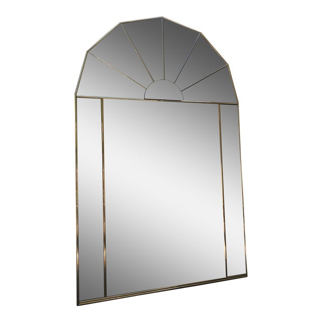 Brass Sculptural Hollywood Regency Mirror - Image 1 of 7