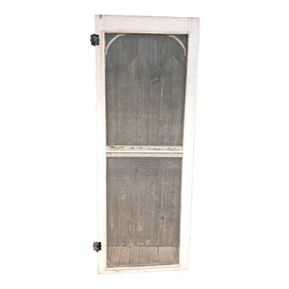 Vintage White Shabby Porch Screen Door