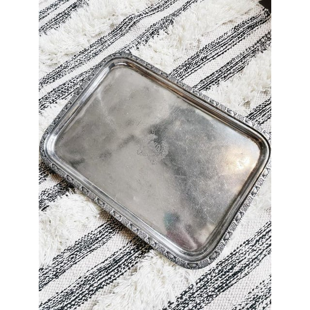1950s 1951 Silver Serving Tray From the Waldorf-Astoria Hotel For Sale - Image 5 of 7