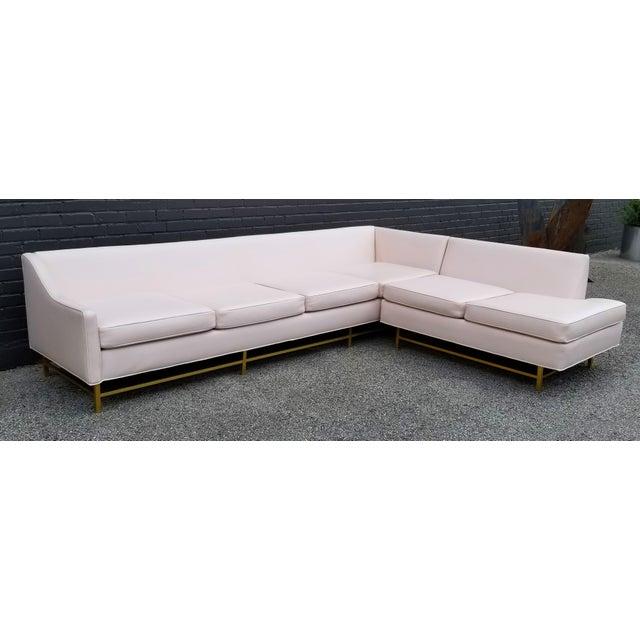 "Drexel Kipp Stewart and Stewart McDougall Mid-Century Modern ""Suncoast"" Sectional Sofa For Sale - Image 4 of 13"