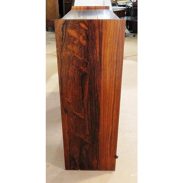 Metal Danish Rosewood Dry Bar For Sale - Image 7 of 9