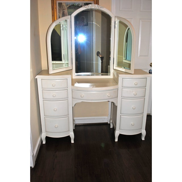 White Pottery Barn Teen Lilac Vanity For Sale - Image 8 of 9