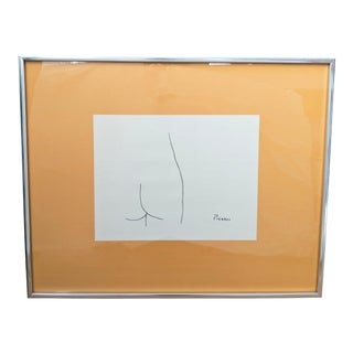 "20th Century Framed Picasso Nude ""Femme"" Print For Sale"