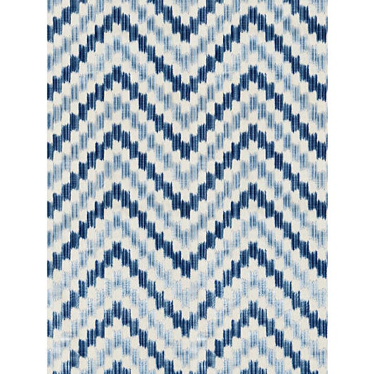 Plush cut velvet adds glamour and texture to this bold chevron design. Striations in its silky viscose pile emphasize the...