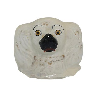 Antique English Staffordshire Dog Smash Money Bank For Sale