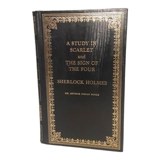 Vintage 1975 Sherlock Holmes Novels Study in Scarlet & the Sign of the Four For Sale