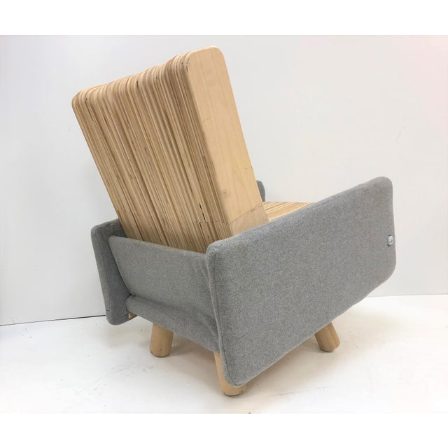 Modern Custom Plywood Lounge Chair For Sale - Image 3 of 9