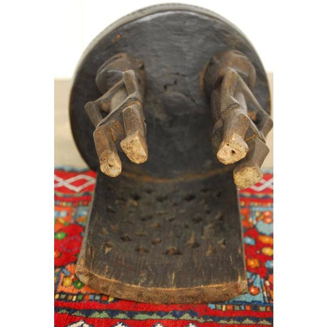 African Carved Tribal Stool with Figural Legs For Sale In San Francisco - Image 6 of 12