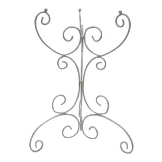 Scrolled White Iron Side Table Base For Sale
