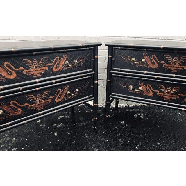 1990s Chinoiserie Side Chests - a Pair For Sale - Image 4 of 12