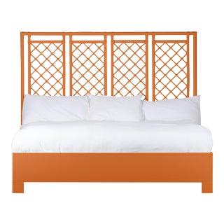 X & Diamond Bed King - Orange For Sale