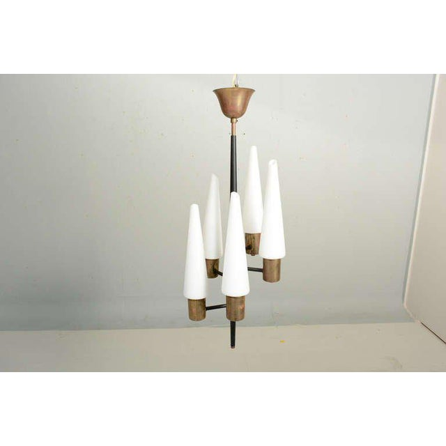 Modern Aluminum Swiss Chandelier For Sale - Image 3 of 8