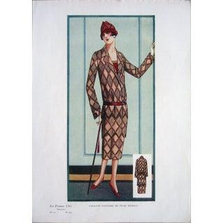 1920 Vintage Paris, La Femme Chic, Tailleur Fantaisie De Felix Dupouy, Print For Sale
