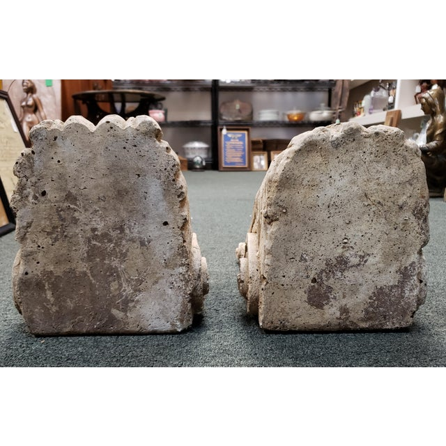 Late 19th Century Late 19th Century Italian Classical Concrete Style Plaster Moor Head Wall Corbels - a Pair For Sale - Image 5 of 6