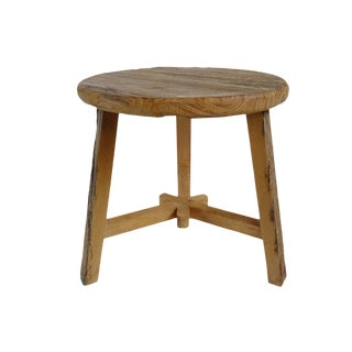 Elm Round Side Table For Sale