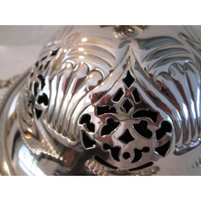 English Silver Lidded Bowl With Glass Insert - Image 5 of 11