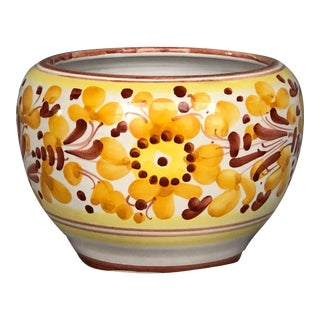 Vintage Italian Ceramic Pottery Indoor Planter For Sale