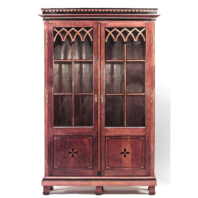 Austrian Neoclassical Style Bookcase Cabinet For Sale In New York - Image 6 of 6