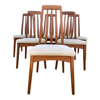 Benny Linden Danish Dining Chairs - Set of 6 For Sale