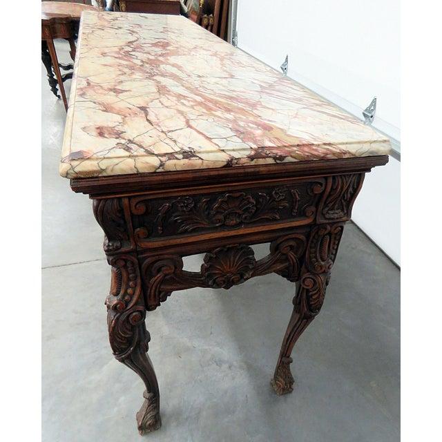 Georgian Style Marble Top Sideboard For Sale In Philadelphia - Image 6 of 8