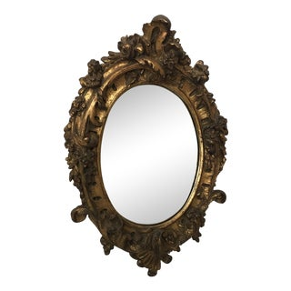 Antique Italian Gesso Gilt Mirror For Sale