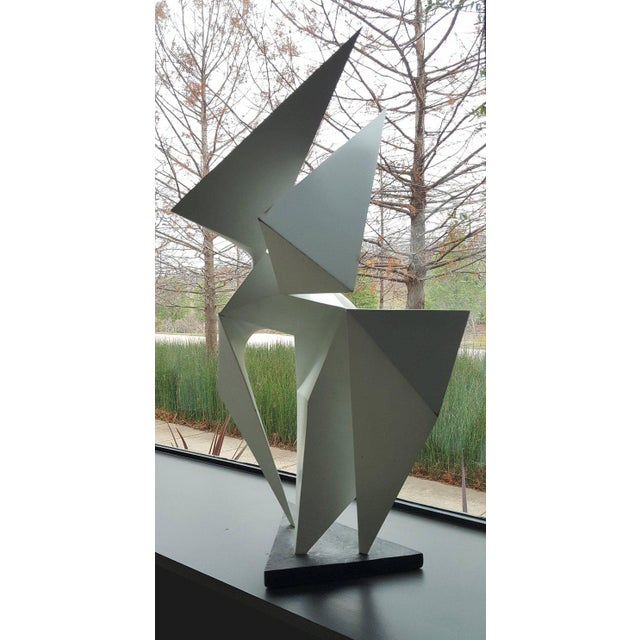 Vintage Abstract Origami Sculpture by Artist Edward D Hart For Sale - Image 4 of 11