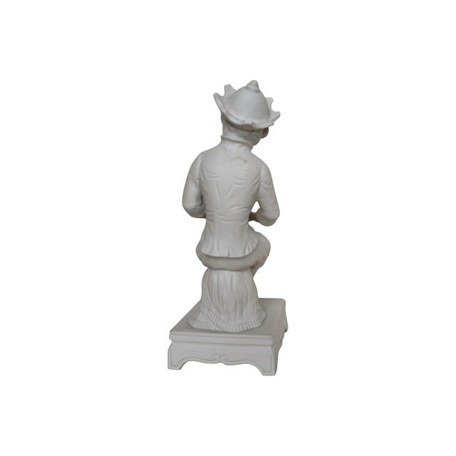 French White Porcelain/Bisque Monkey For Sale - Image 4 of 4