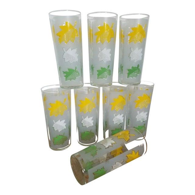 Oak Leaf Glasses - Set of 8 For Sale