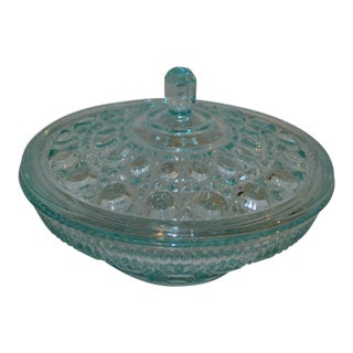 Indiana Glass Button & Cane Dish For Sale