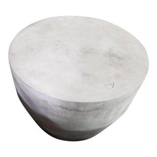 Contemporary Restoration Hardware Medium Cosimo Grey Side Table For Sale