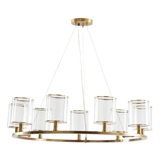 Arteriors Lorena Brass Chandelier For Sale