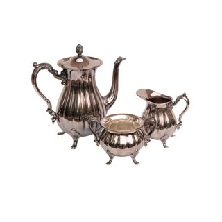 Silver Plate Tea or Coffee Service by Poole - Set of 3 For Sale