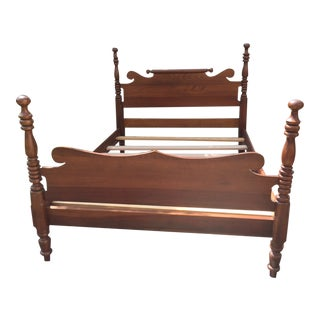 20th Century Full-Size Cherry Bedframe For Sale