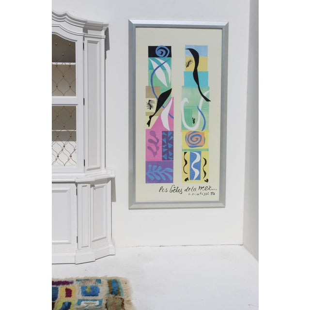 Abstract 20th Century Modern Matisse Poster With Brushed Silver Frame For Sale - Image 3 of 7