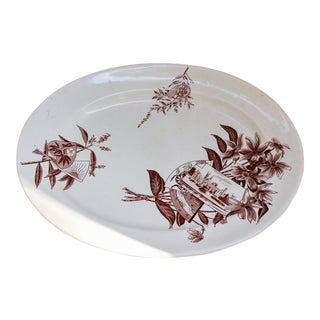 Large Staffordshire Eastlake Aesthetic Movement Platter For Sale