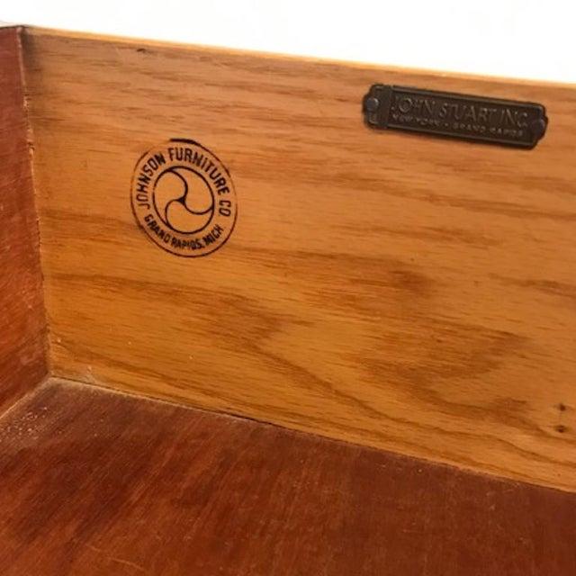 Mid 20th Century Paul Frankl for Johnson Furniture John Stuart Ten Drawer X Pull Dresser Chest For Sale - Image 5 of 8