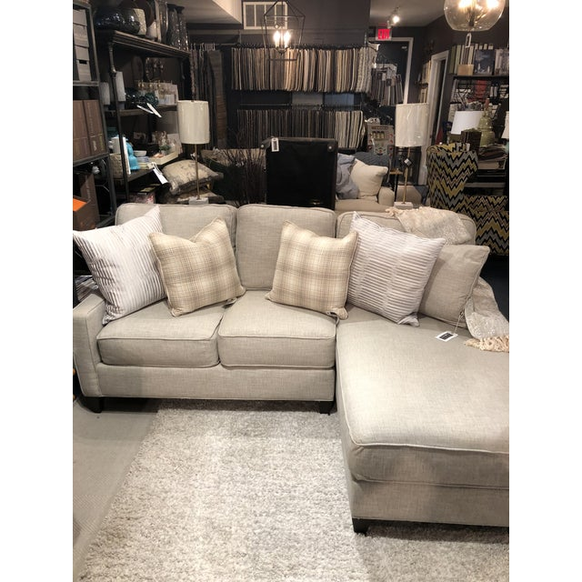 Gray Cr Laine 2 Piece Sectional Sofa For Sale - Image 8 of 9