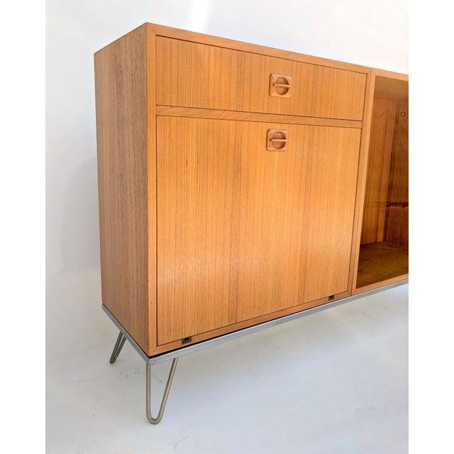 1960s Vintage Danish Modern Teak Credenza For Sale - Image 4 of 10