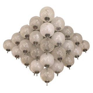Murano Flush Mount Fixture Attributed to Seguso For Sale