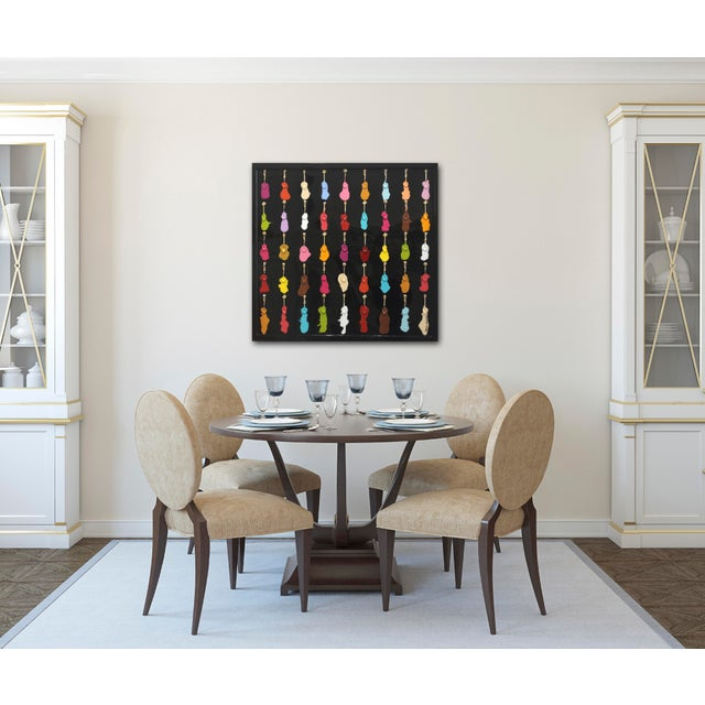 "Gray Mauro Oliveira ""Royal Ice-Cream Tasting I"" Contemporary Painting For Sale - Image 8 of 9"