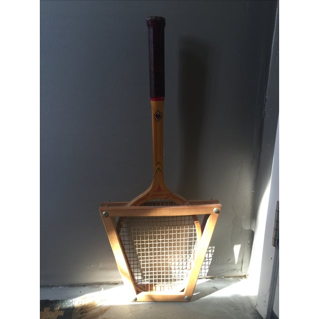 Vintage Coronet Wood Tennis Racket - Image 3 of 9
