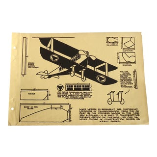 Model Airplane 1930 Art Deco Print