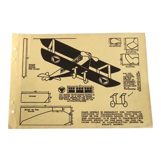 Model Airplane 1930 Art Deco Print For Sale