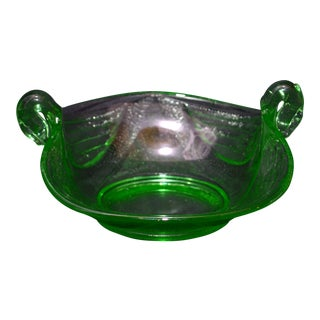 1930s Vintage Fenton Swan Candy Dish For Sale